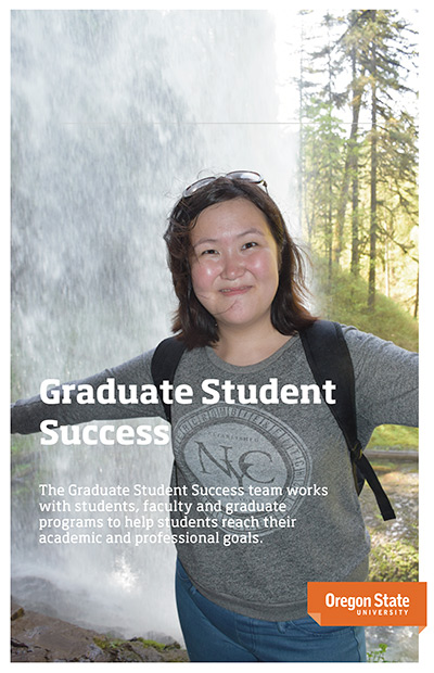 Front cover of the graduate student success initiative brochure