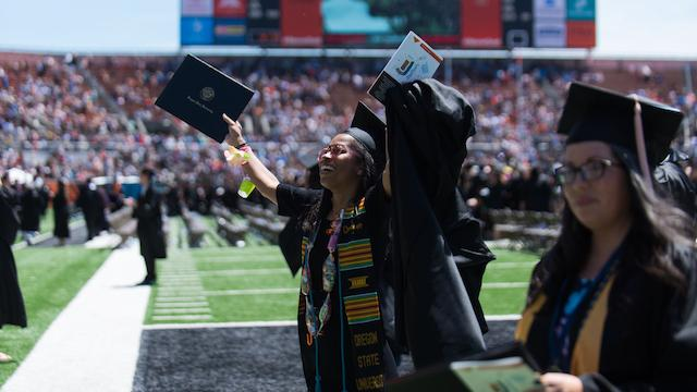 Celebrating at commencement