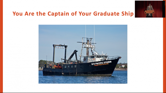 You are the captain of your graduate school ship