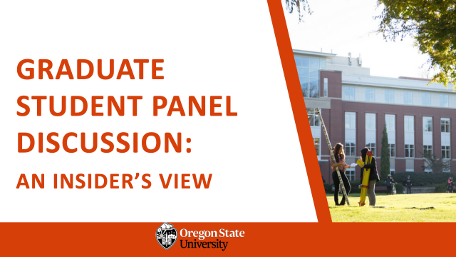 Graduate student panel discussion: An insider's view